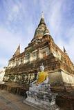 Temple in Ayudhaya, Thailand. Ancient Pagoda at Watyaichaimongkol Temple in Ayudhaya, Thailand Stock Photos