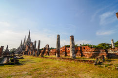 Temple of Ayuthaya, Thailand,. Ayutthaya was a Siamese kingdom that existed from 1351 to 1767. Ayutthaya was friendly towards foreign traders, including the Royalty Free Stock Photo