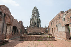 The temple in Ayutthaya Royalty Free Stock Images