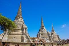 Wat Phra Si Sanphet, Temple of Ayutthaya Historica Royalty Free Stock Photos