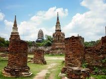 Temple - Ayutthaya. Old Temple -Ayutthaya , Thailand (2013 Royalty Free Stock Image