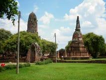 Temple - Ayutthaya. Old Temple -Ayutthaya , Thailand (2013 Royalty Free Stock Photo