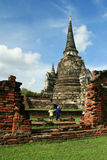 Temple in Ayutthaya, Thailand. Old temple in Ayutthaya, Thailand Royalty Free Stock Photo