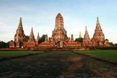Temple in Ayutthaya, Thailand. Old temple in Ayutthaya, Thailand Royalty Free Stock Photos