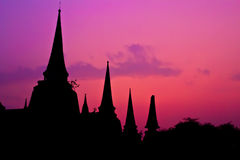 Temple of Ayutthaya, thailand Royalty Free Stock Photos