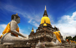 Temple of Ayutthaya, Thailand royalty free stock photo
