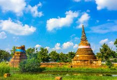 Temple of Ayutthaya, Thailand. Temples of the old capital of Thailand, Ayutthaya at the historical site Stock Photography