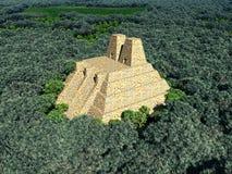 Temple of the Aztecs Stock Image