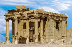 Temple of Baalshamin in Palmyra. Temple of Baalshamin in the ancient city of Palmyra, a Semitic city in present Homs Governorate, Syria Royalty Free Stock Image