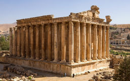Temple of Bacchus in Baalbek (Lebanon) Stock Photography