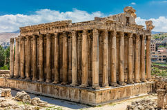 Temple of Bacchus romans ruins Baalbek Beeka Lebanon Stock Photo