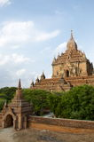 Temple in bagan on a bluebird day Stock Photos