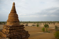 Temple in bagan on a bluebird day. Burma Royalty Free Stock Photos