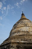 Temple in bagan on a bluebird day. Burma Stock Photography