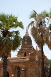 Temple in bagan on a bluebird day. Temples in bagan on a bluebird day Burma Royalty Free Stock Photos