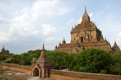 Temple in bagan on a bluebird day. Temples in bagan on a bluebird day Burma Royalty Free Stock Photography