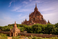 Temple in Bagan, Myanmar (Burma). Ancient Bagan temple in Burma (Myanmar Royalty Free Stock Images