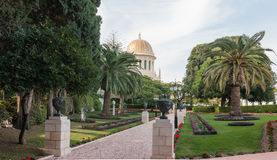 Temple in Bahai Garden in Haifa Royalty Free Stock Photo