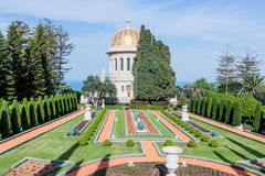 Temple in Bahai Garden in Haifa Royalty Free Stock Image
