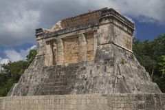 Temple at the ball court, Chichen-Itzá. Temple at the ball court (Juego de Pelota), Chichen-Itzá, Mexico royalty free stock photography