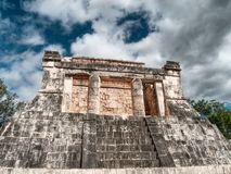 Temple at the ball court, Chichen-Itzá. Temple at the ball court (Juego de Pelota), Chichen-Itzá, Mexico Stock Images