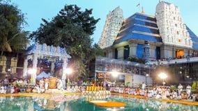 Temple Bangalore d'ISKCON Photo stock