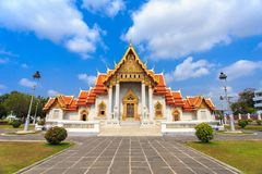 Temple in Bangkok, Beautiful Thai Temple Wat Benjamaborphit. In Thailand Royalty Free Stock Images