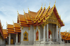 Temple in bangkok,Thailand. Benchamabophit temple in Bangkok Thailand,Religious sights,Beautiful places royalty free stock photos