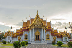 Temple in bangkok,Thailand. Benchamabophit temple in Bangkok Thailand,Religious sights,Beautiful places royalty free stock photography