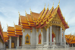 Temple in bangkok,Thailand. Benchamabophit temple in Bangkok Thailand,Religious sights,Beautiful places stock photography