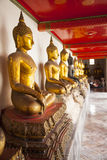 Temple in Bangkok, Thailand. Temple with statues of Buddha in Bangkok Stock Photos