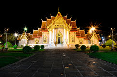 Temple in Bangkok. Wat Benchamabopit Dusitvanaram or Marble Temple in Bangkok, Thailand Stock Photography
