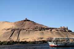 Temple on banks of River Nile 2 Royalty Free Stock Images
