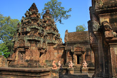 temple banteay de srey d'angkor Photos libres de droits