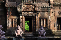 Temple Banteay Srei in Angkor Royalty Free Stock Photography