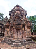 Temple Banteay Srei d'Angkor Photographie stock