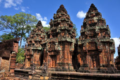 Free Temple Banteay Srey Royalty Free Stock Image - 54576226