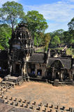 Temple in Baphuon. Standing on the top of Baphuon, Siem Reap, Cambodia Stock Image