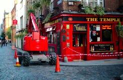 Temple Bar area in Dublin. Ireland Royalty Free Stock Photography