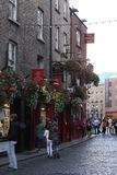 Temple Bar on a Cool, Rainy Day stock images