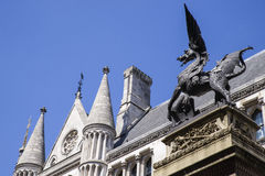 Temple Bar Dragon in London Royalty Free Stock Photography