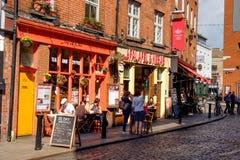 Temple bar. Dublin, Ireland. August 18, 2015 Royalty Free Stock Photo