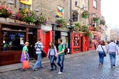 Temple bar. Dublin, Ireland. August 18, 2015. Pub in Temple Bar area of the city Stock Photos
