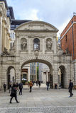 Temple Bar Gate, London. LONDON, GREAT BRITAIN - MAY 13, 2014: The Temple Bar Gate is a grand arch rising from the Cathedral of St. Paul in the City royalty free stock photo