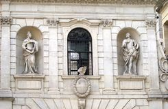 The Temple Bar Gateway or Archway details in London, England Royalty Free Stock Image