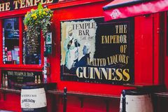The Temple Bar pub in Dublin, arguably the most popular traditio. DUBLIN, IRELAND - April 12th, 2018: the Temple Bar pub in Dublin, arguably the most popular Stock Images
