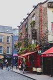 The Temple Bar pub in Dublin, arguably the most popular traditio. DUBLIN, IRELAND - April 12th, 2018: the Temple Bar pub in Dublin, arguably the most popular Stock Photos