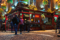 Temple bar quarter in dublin at night Royalty Free Stock Photography