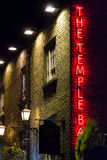 The Temple Bar sign. Irish pub. Dublin Stock Photos