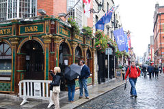 Temple Bar zone in Dublin Royalty Free Stock Photo